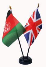 UNION JACK / AFGHANISTAN - Friendship Table Flags